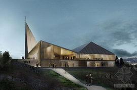 ...特德设计的挪威knarvik教堂
