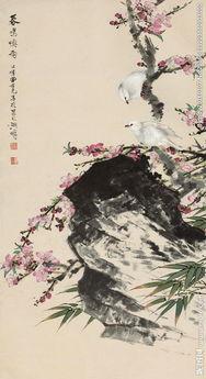 国画 花鸟 装饰画 无框画图片