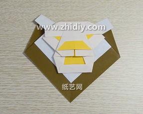万圣节折纸狮子面具手工制作教程